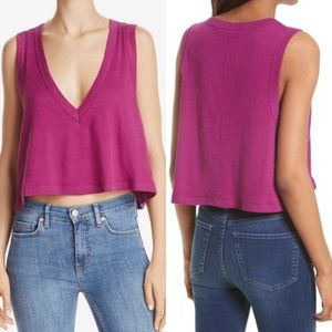 NWT FREE People Baring it Cami Cropped S
